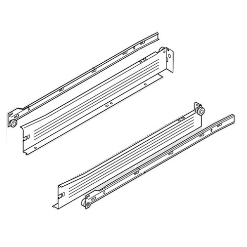 "Metabox Slide 2""H x 16""L - White with Front Fix Brackets <small>(#320N4000C15)</small>"