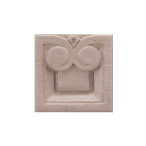 Brown Wood Small Madeline Tile Unfinished Hard Maple 01901018HM1