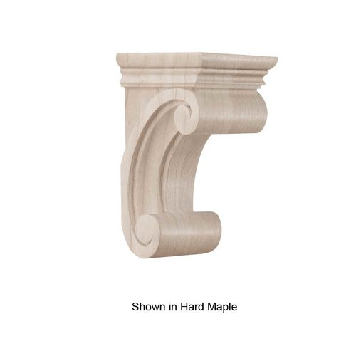 Brown Wood Small Madeline Corbel Unfinished Walnut 01607115WL1