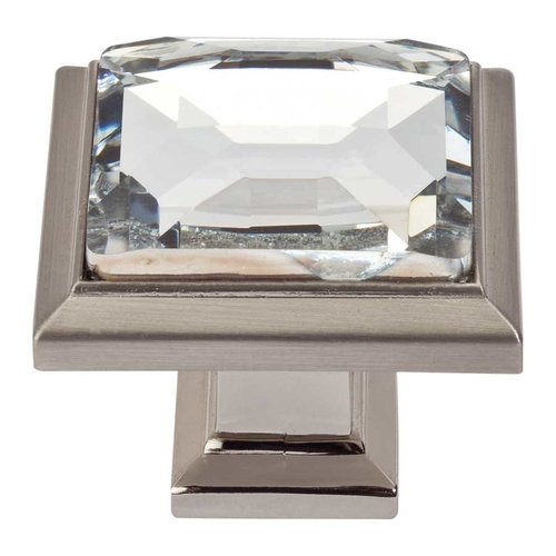Legacy Crystal 1-5/16 Inch Diameter Brushed Nickel Cabinet Knob <small>(#340-BRN)</small>