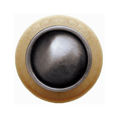 Notting Hill Classic 1-1/2 Inch Diameter Antique Pewter Cabinet Knob NHW-761N-AP