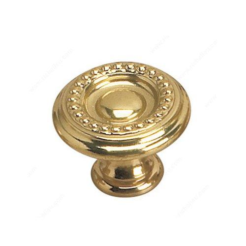 Richelieu Empire 1-3/16 Inch Diameter Brass Cabinet Knob 2440430130