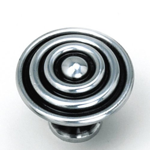 Laurey Hardware Kama 1-1/2 Inch Diameter Antique Silver Cabinet Knob 23060