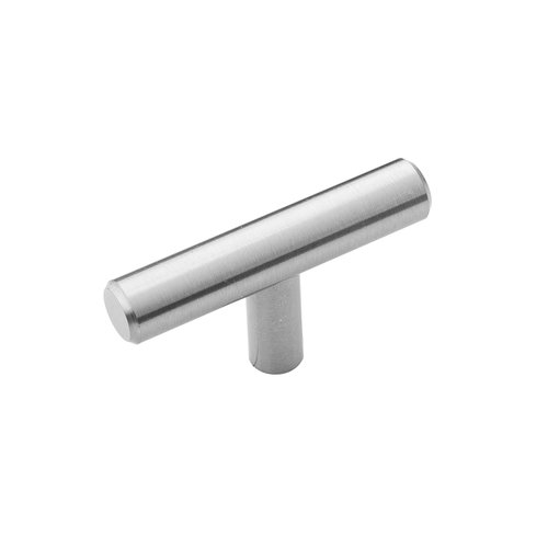 "Hickory Hardware Bar Pull T-Knob 2-3/8"" Long Stainless Steel HH075591-SS"