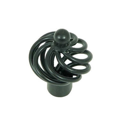 Stone Mill Hardware Sheffield 1-3/8 Inch Diameter Matte Black Cabinet Knob CP81494-MB