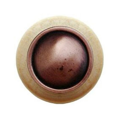 Notting Hill Classic 1-1/2 Inch Diameter Antique Copper Cabinet Knob NHW-761N-AC
