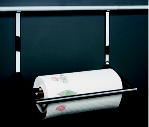 Kessebohmer Paper Towel Holder For Backsplash Rail System Stainless Look 521.61.611