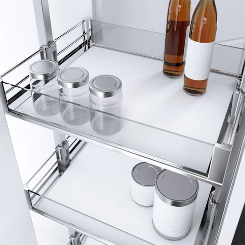 "Vauth Sagel HSA 13-13/16"" W Pantry Basket Premea Artline Chrome 9000 5321"