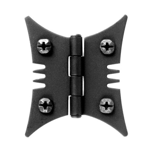 Acorn Manufacturing Smooth Iron Butterfly Style Surface Mount Hinge Black Iron AJ1BQ