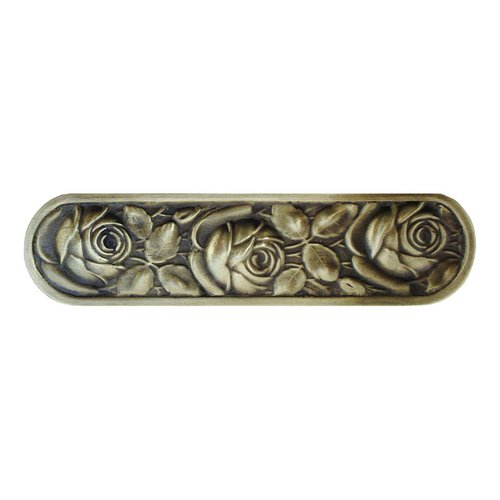 Notting Hill English Garden 3 Inch Center to Center Antique Brass Cabinet Pull NHP-680-AB