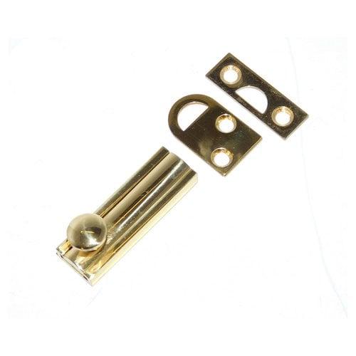 """Don-Jo 6"""" Slide Bolt Bright Brass SB-6-605"""