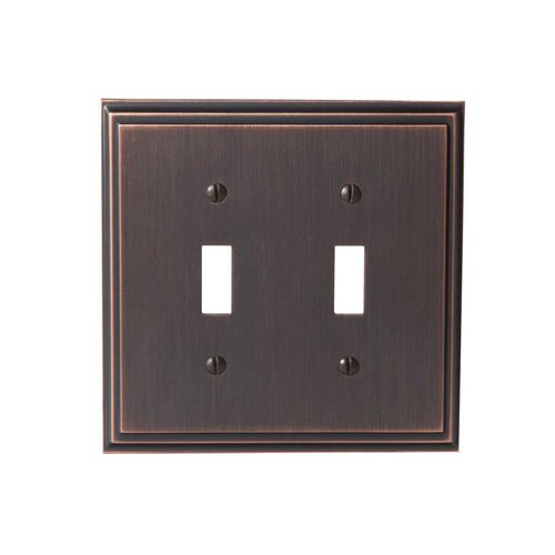 Amerock Mulholland Two Toggle Wall Plate Oil Rubbed Bronze BO36515ORB
