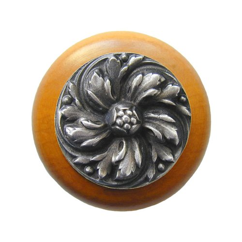 English Garden 1-1/2 Inch Diameter Antique Pewter Cabinet Knob <small>(#NHW-714M-AP)</small>