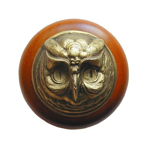Notting Hill Great Outdoors 1-1/2 Inch Diameter Antique Brass Cabinet Knob NHW-711C-AB