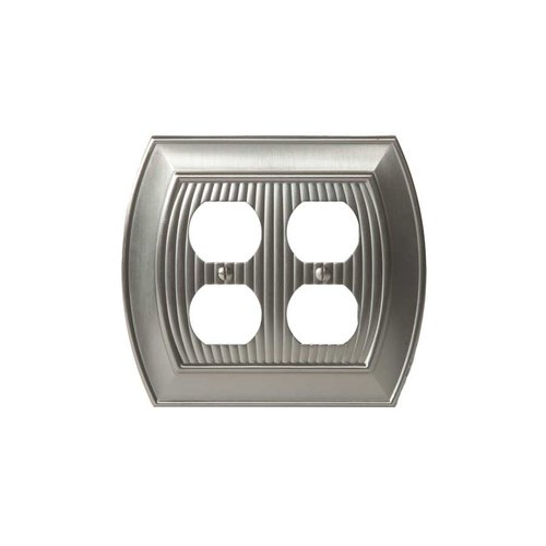 Amerock Allison Two Receptacle Wall Plate Satin Nickel BP36537G10