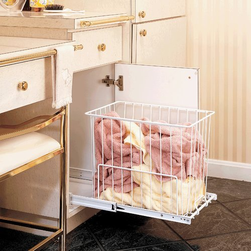 "Rev-A-Shelf HRV Series 15"" Wire Hamper White HRV-1520 S"