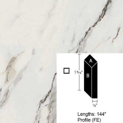 Wilsonart Bevel Edge - Calcutta Marble - 12 Ft CE-FE-144-4925K-07