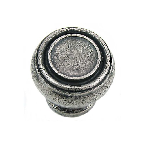 Balance 1-1/4 Inch Diameter Antique Pewter Cabinet Knob <small>(#85064)</small>