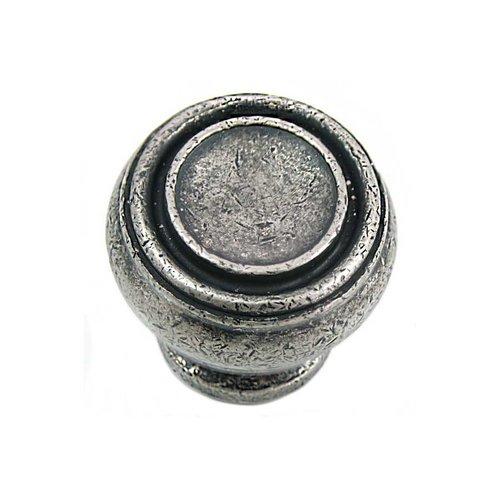 MNG Hardware Balance 1-1/4 Inch Diameter Antique Pewter Cabinet Knob 85064