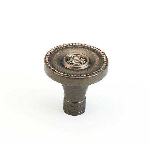 Schaub and Company Meridian 1-3/8 Inch Diameter Aurora Bronze Cabinet Knob 800-AUB