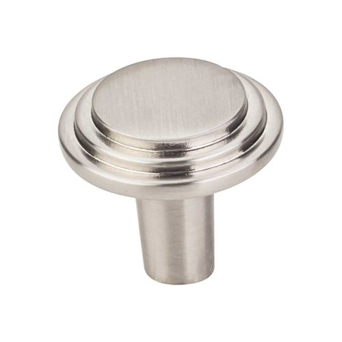 Calloway 1-1/8 Inch Diameter Satin Nickel Cabinet Knob <small>(#331SN)</small>