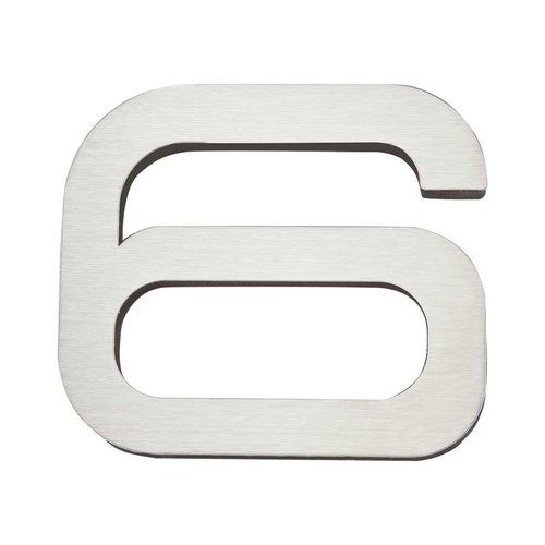 Atlas Homewares Paragon House Number Six Stainless Steel PGN6-SS