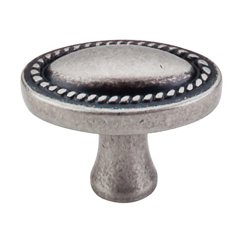 Somerset 1-1/4 Inch Length Pewter Antique Cabinet Knob <small>(#M401)</small>