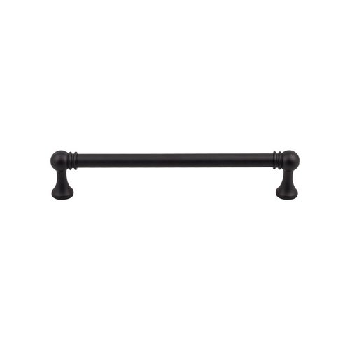 Top Knobs Serene 6-5/16 Inch Center to Center Flat Black Cabinet Pull TK804BLK