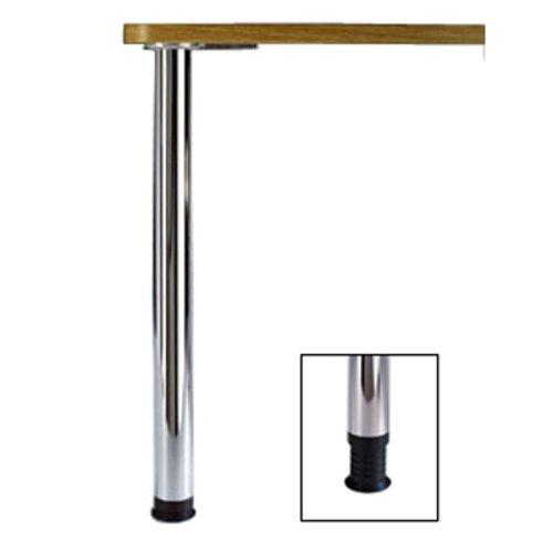 Peter Meier Zoom Table Leg Set Chrome 27-3/4 inch H 666-70-C1