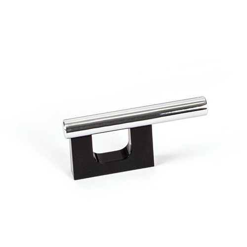 Level 1-1/4 Inch Center to Center Black Polished Chrome Cabinet Pull <small>(#9458-1000-C)</small>