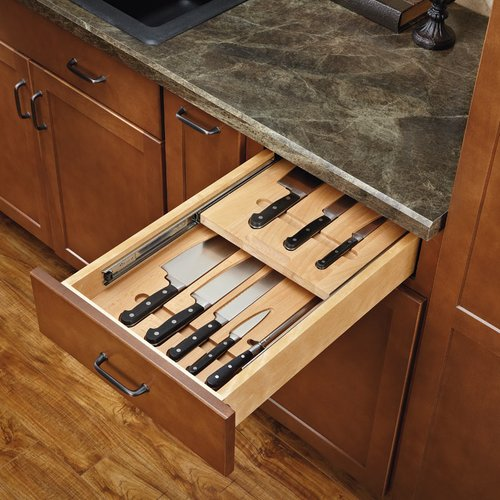 "Rev-A-Shelf Cutlery Drawer for 18"" Cabinets W/ Knives 4WTKD-18-SC-1"