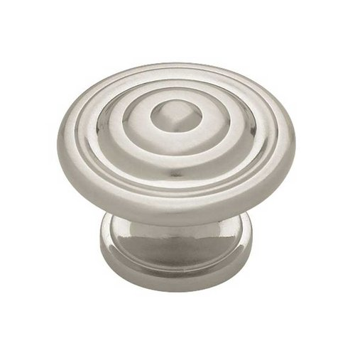 Liberty Hardware Contempo 1-3/8 Inch Diameter Satin Nickel Cabinet Knob PN0407-SN-C