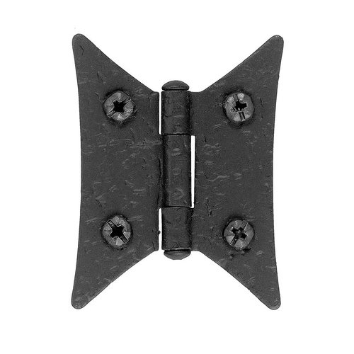 Acorn Manufacturing Rough Iron Butterfly Style Surface Mount Hinge Black Iron RJ1BQ