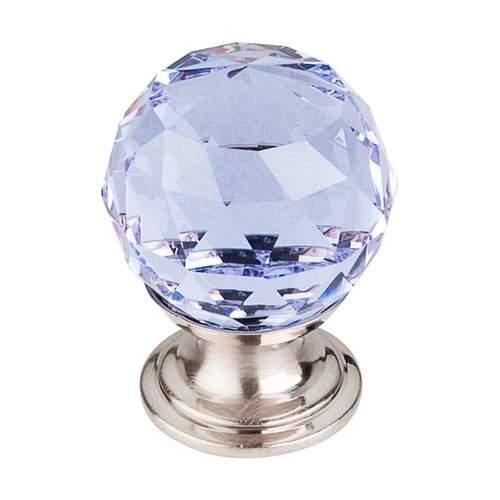 Top Knobs Crystal 1-1/8 Inch Diameter Light Blue Crystal Cabinet Knob TK113BSN