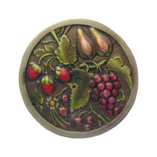 Notting Hill Tuscan 1-3/8 Inch Diameter Brass Hand Tinted Cabinet Knob NHK-174-BHT