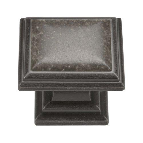 Hickory Hardware Somerset 1-5/16 Inch Diameter Black Nickel Vibed Cabinet Knob HH74639-BNV