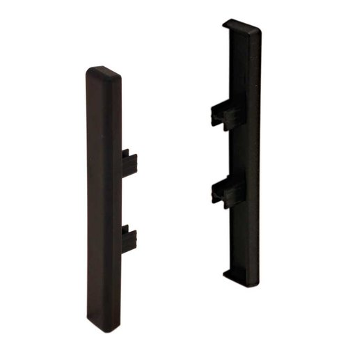 Hafele Omni Track Edge Profile Set Black Plastic 792.00.320