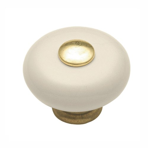 "Hickory Hardware Tranquility Knob 1-1/4"" Dia Light Almond P222-LAD"
