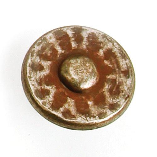 Laurey Hardware Nevada 1-3/8 Inch Diameter Antique Pewter With Terra Cotta Wash Cabinet Knob 37656