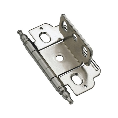 Amerock Full Inset Minaret Tip Hinge Sterling Nickel - Sold Each PK3180TMG9