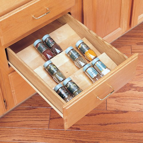 "Rev-A-Shelf Wood Spice Drawer Insert-16""W X 19.75""L 4SDI-18"