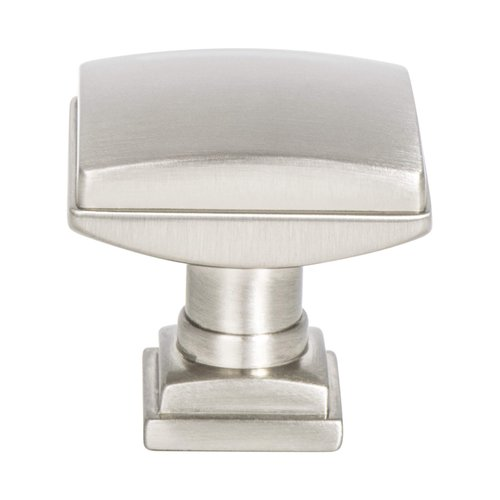"Berenson Tailored Traditional Knob 1-1/4"" Dia Brushed Nickel 1272-1BPN-P"