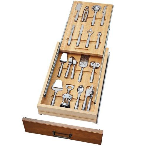 "Rev-A-Shelf Cutlery Drawer for 18"" Cabinets W/ Utensils 4WTUD-18-SC-1"