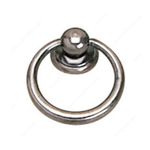 Richelieu Povera 1-5/16 Inch Diameter Faux Iron Cabinet Ring Pull 920233904
