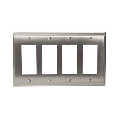 Candler Four Rocker Wall Plate Satin Nickel <small>(#BP36507G10)</small>