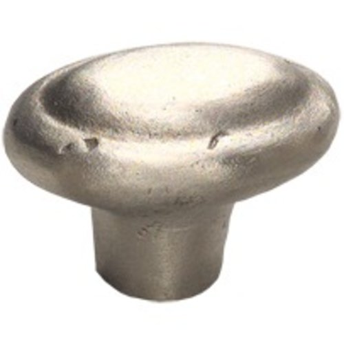 Schaub and Company Ovale 1-7/8 Inch Diameter Antique Silver Cabinet Knob 782-AS
