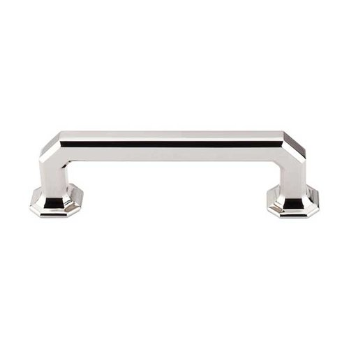 Top Knobs Chareau 3-3/4 Inch Center to Center Polished Nickel Cabinet Pull TK287PN