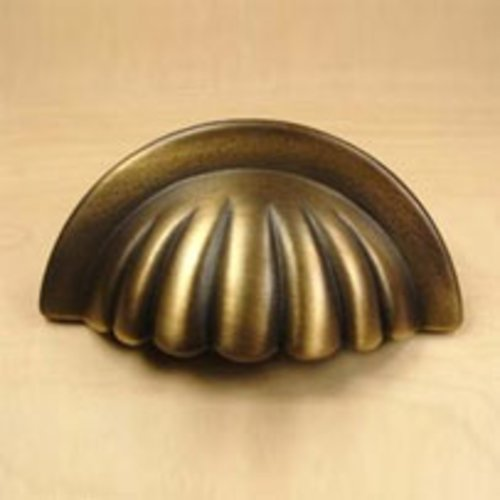 Century Hardware Plymouth 3 Inch Center to Center Weathered Brass Cabinet Cup Pull 16543-WB