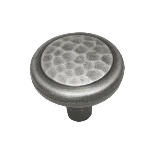 Arts & Crafts 1-1/4 Inch Diameter Antique Pewter Cabinet Knob <small>(#P7528-AP)</small>