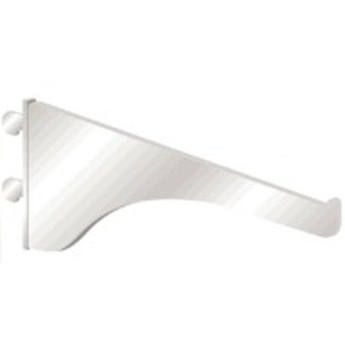 "Knape and Vogt KV #180 Bracket 8""- White 180 WH 8"